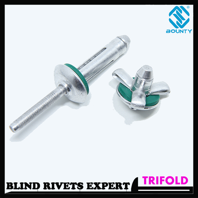 Waterproof Aluminum Trifold Rivets with Washer