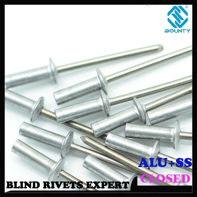 ALU/SS CLOSED END BLIND RIVETS